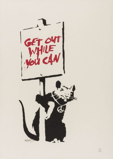 banksy - Rat get out while you can (Unsigned)