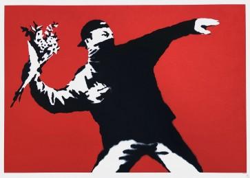 Banksy Love Is In The Air (Flower Thrower) Liita