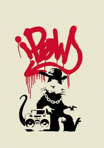 Banksy - Gangsta Rat (Signed)