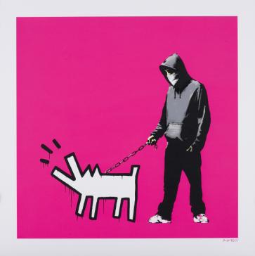 Banksy - Choose Your Weapon (magenta)