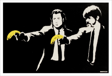 Banksy Pulp Fiction signed