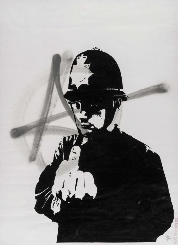 Banksy (b.1974) Rude Copper (Anarchy)