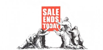 Banksy Sale ends Pow signed