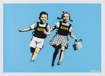 Banksy Jack and Jill (Police Kids) Signed