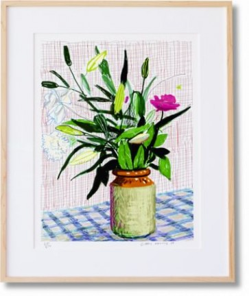 Hockney_A-Bigger-Book_Taschen_book-open-on-Marc-Newson-stand ipad