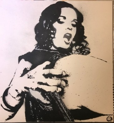 Nick Walker LADY  Hand Spray Painted