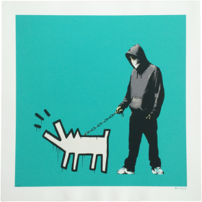 banksy choose your weapon turquoise full print