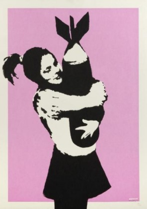 Banksy-Bomb Hugger ( Bomb Lover)  Buy Banksy bomb lover from 727gallery.com