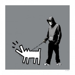 Banksy Choose Your Weapon Grey