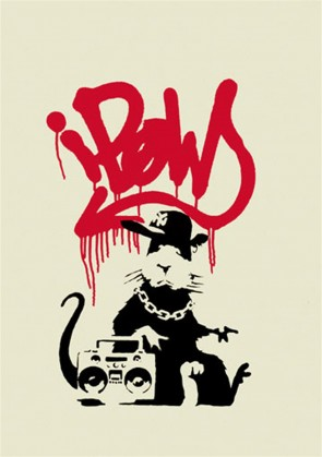 Banksy Gangsta Rat - signed