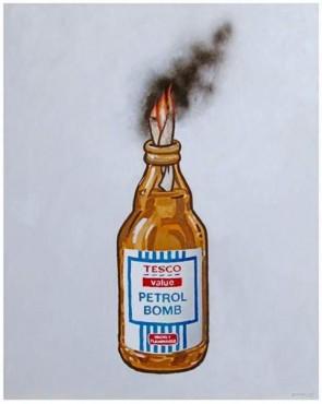 banksy petrol bomb