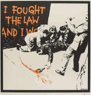 Banksy I Fought the Law (Unsigned)