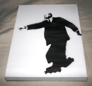Banksy Lenin on Roller Skates