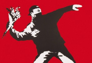 Banksy Flower Thrower, Love is in The Air Litta,
