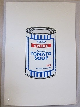 Banksy Soup Can Original 727gallery.com