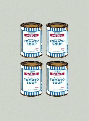 Banksy - Soup Can (Quad)