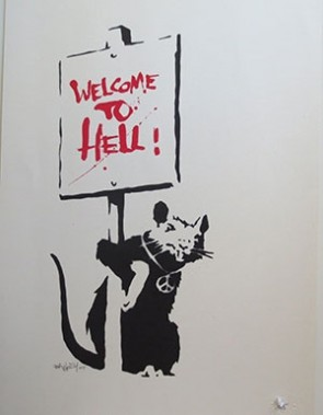 Banksy - Welcome To Hell (Signed)