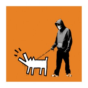 Banksy - Choose Your Weapon (Dark Orange)