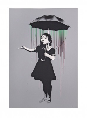 Banksy Nola AP Green to Burgundy Ed 61