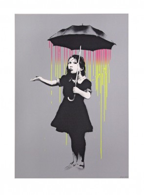 Banksy Nola AP Yellow to Pink ed 61