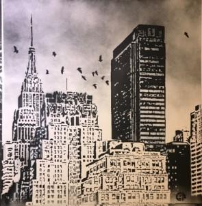 Nick Walker Hand Spray Painted New Yorker