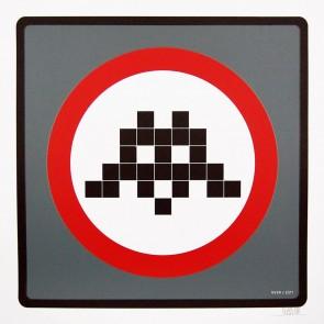 Space Invader – Warning Invader (Grey)