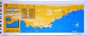 SPACE INVADER COTE D'AZUR MAP from 727gallery