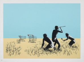 Trolleys (Colour) - Signed by Banksy. 727gallery