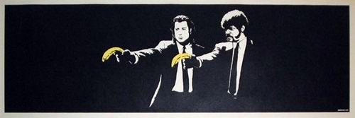 banksy pulp fiction for sale 727gallery